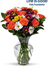 Benchmark Bouquets Life is Good Flowers Orange, With Vase (Fresh Cut Flowers)