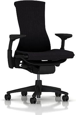 【正規品】 Herman Miller (ハーマンミラー) エンボディチェア オフィスチェア グラファイト(ブラック) BBキャスター 12年保証 CN122AWAAG1G1BB3513