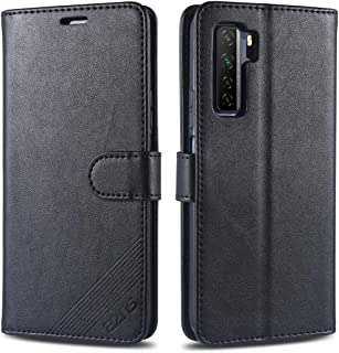 電話ケース Huawei Nova 7 SE AZNSシープスキンテクスチャーホリゾンタルフリップレザーケース、ホルダー&カードスロット&ウォレット付き