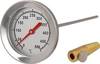 Lantelme Termometro per barbecue, 500 gradi, impermeabile, sonda da 30 cm, con sensore di temperatura, in acciaio INOX 5901