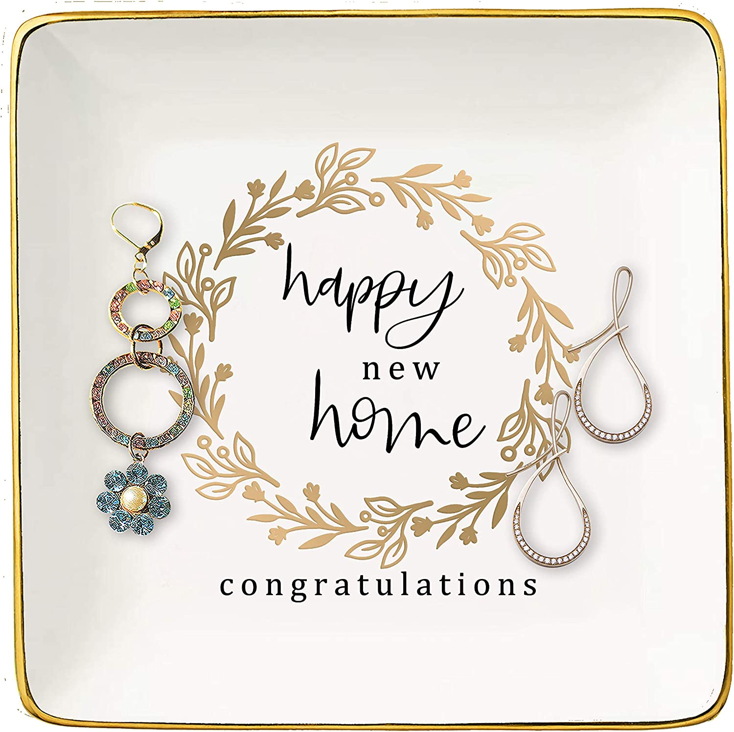 Happy New Home Gift – Ceramic Trin Jewelry Dish 5 ☆ popular Max 63% OFF Ring Holder