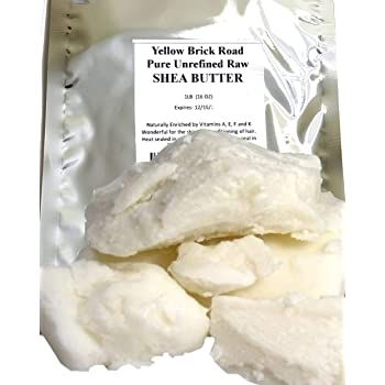 Yellow Brick Road 100% Raw Unrefined Shea Butter-African Grade a Ivory 1 Pound (16oz)…