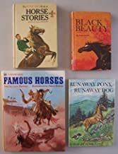 Lot of 4 vintage hardbacks for horse lovers: Famous Horses; 1972, The Boys' Life Book of Horse Stories; 1963, Black Beauty; 1970, and Runaway Pony, Runaway Dog; 1963