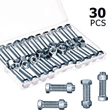 30 Sets Auger Shear Pins Bolts and Nuts Steel Metal Bolts Nuts Compatible with Honda Snowblower HS1132 HS624 HS828 HS928 HS724