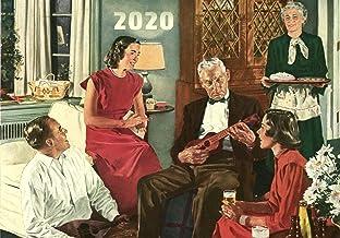 Calendario de pared 2020 [12 páginas de 8 x 11 pulgadas] Cerveza Belong Vintage Comercial Advertidos Revista Ilustración Familia Escenas de vida Americana Sixties Douglass Crockwell