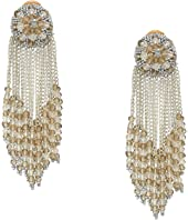 Oscar de la Renta - Chain Cluster Beaded C Earrings
