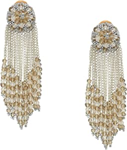 Chain Cluster Beaded C Earrings
