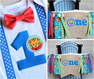 First Birthday Outfit Boy, First Birthday High Chair Banner