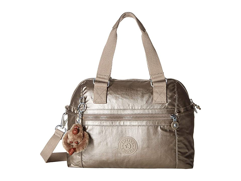 3074ecc3c7 Kipling Cora Crossbody (Metallic Pewter) Cross Body Handbags