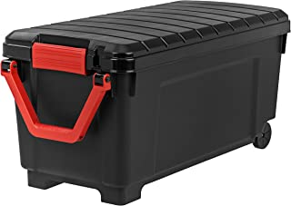 IRIS 250080  Store-It-All Tote with Handle, 43 gallons,Black