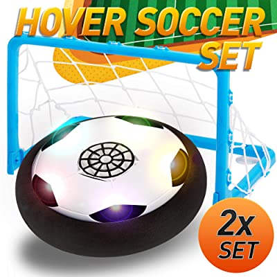 Kids Toys - Air Power Soccer Set with 2 Goals,W...
