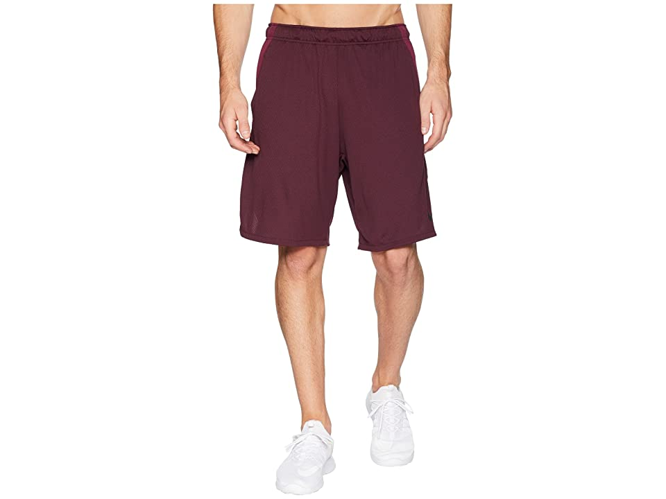 Nike Dri-FIT 9 Training Short (Burgundy Crush/Black) Men