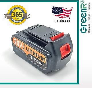 greenr31-Pack 4000mAh 4.0Ah batería de repuesto para Black and Decker LBXR20(4.0AH) ajuste LBX20LST220BDCDMT120EPL188KB ASL186K LST300LDX120SB LGC120°C300lpp120lcc340para herramientas eléctricas LI-ION de litio y más