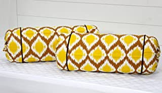 "AURAVE Cotton 144 TC Bolster Cover (15""x30""_Mustard)"