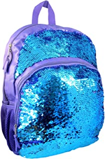 Reversible Flip Sequin Backpack -Young Adult - Purple and Teal