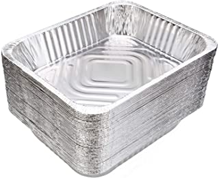 9x13 Aluminum Pans Disposable (30-Pack) - HEAVY DUTY - Half-Size Deep Foil Pans. Great for Baking, Cooking, Grilling, Serv...