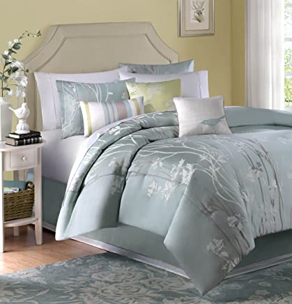 featured product Madison Park Athena 6 Piece Duvet Cover Set Green King