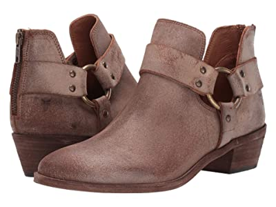 Frye Ray Harness Back Zip (Chocolate Waxed Vintage Suede) Women