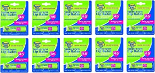 Banana Boat Spf#45 Lip Balm Sunscreen 0.15 Ounce (10 Pieces)