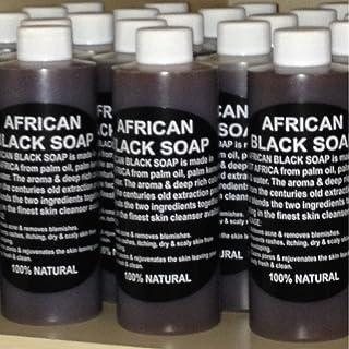 سائل الصابون الأسود الإفريقي 236 مل. طبيعي نقي 100% من ألمانيا، علاج حب الشباب، يساعد على مكافحة الأكزيما والصدفية، والبشر...