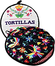 """TWO SIDED! Tortilla Warmer, Size 11"""" Insulated and Microwaveable, Fabric Pouch Keeps Them Warm for up to One Hour! Perfect..."""