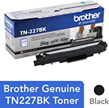 $72 » Brother Genuine TN227, TN227BK, High Yield Toner Cartridge,  Replacement Black Toner, Page Yield Up to 3,000 Pages, TN227BK, Amazon Dash Available