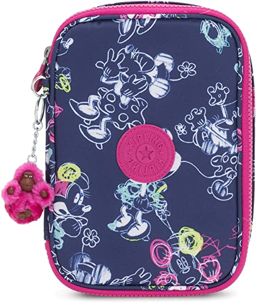 Kipling Disney S Minnie Mouse And Mickey Mouse 100 Pens Printed Case