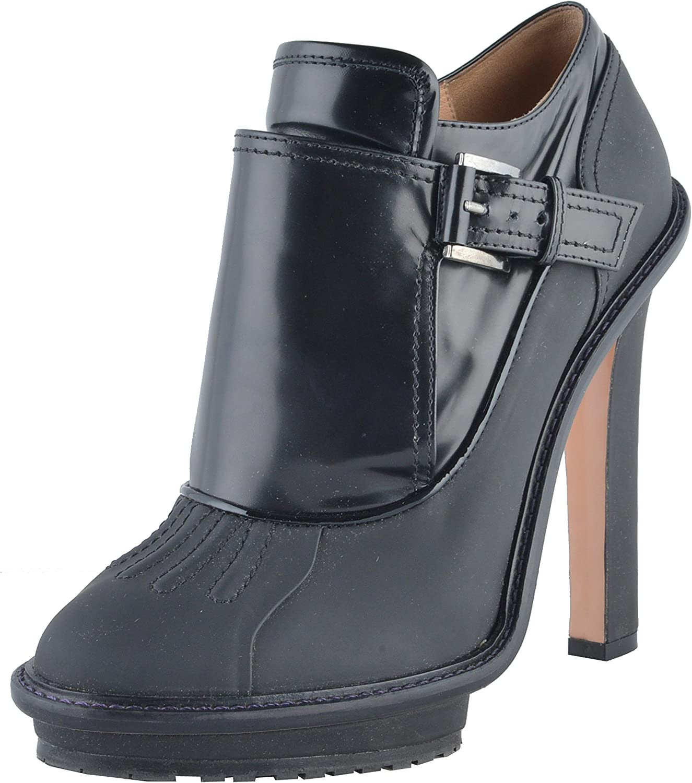 Viktor & Rolf Women's Black Leather Platform High Heel Ankle Boots shoes US 9 IT 39