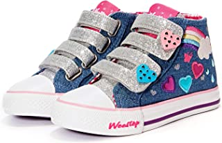 Girls Toddler/Little Kid Glitter Unicorn Bow Sneaker Shoe