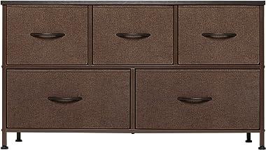 REYADE Dresser with 5 Drawers, Storage Tower, Fabric Bins, Organizer Unit for Bedroom, Hallway, Entryway, Closets, Nurseries,