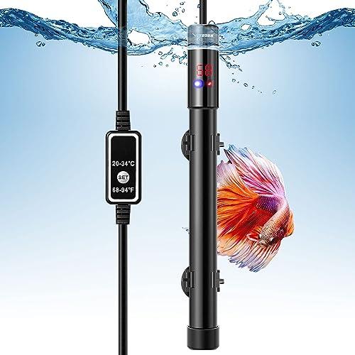 lowest VIVOSUN Submersible Aquarium Heater, 50W/100W/200W/300W/400W/500W outlet online sale Titanium Fish Tank Heaters with Intelligent 2021 LED Temperature Display and External Temperature Controller online sale