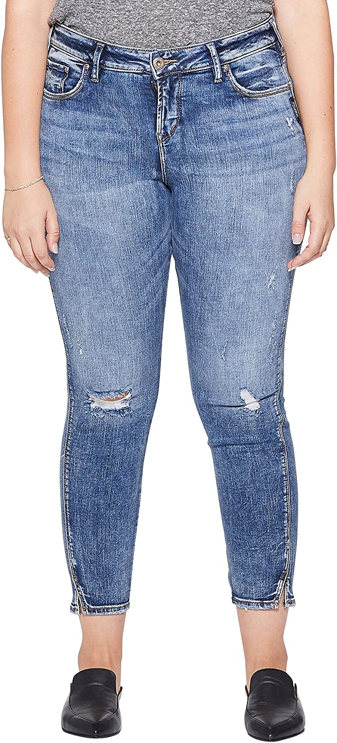 Silver Jeans Co. Women's Plus Size 70% Baltimore Mall OFF Outlet Curvy High Ank Avery Rise Fit
