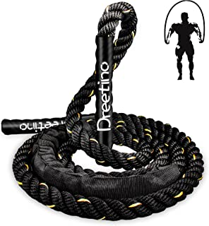 2.8lb Weighted Durable Jump Rope Adult Fitness Ropes Men and Women Whole Body Muscle Exercise to Improve Strength Enduranc...