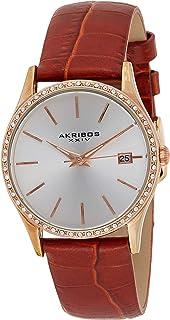 Akribos XXIV Women's Dial Leather Band Watch - AK883WTR