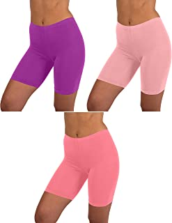 Womens 3 Pack & 6 Pack Active Dance Running Yoga Bike - Boy Short Boxer Briefs