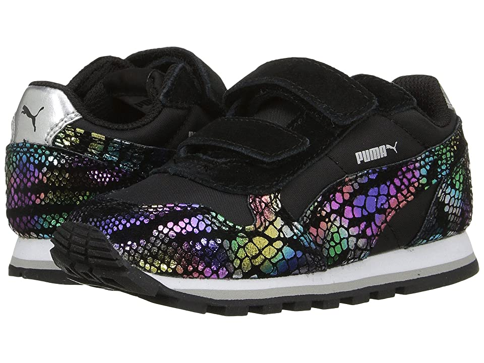 Puma Kids ST Runner Sportlux V (Toddler) (Puma Black/Puma Silver) Girls Shoes
