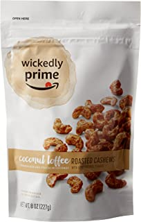 Wickedly Prime Roasted Cashews, Coconut Toffee, 8 Ounce