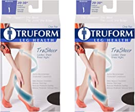 Truform Compression 20-30 mmHg Sheer Knee High Stockings Black, Small, 2 Count