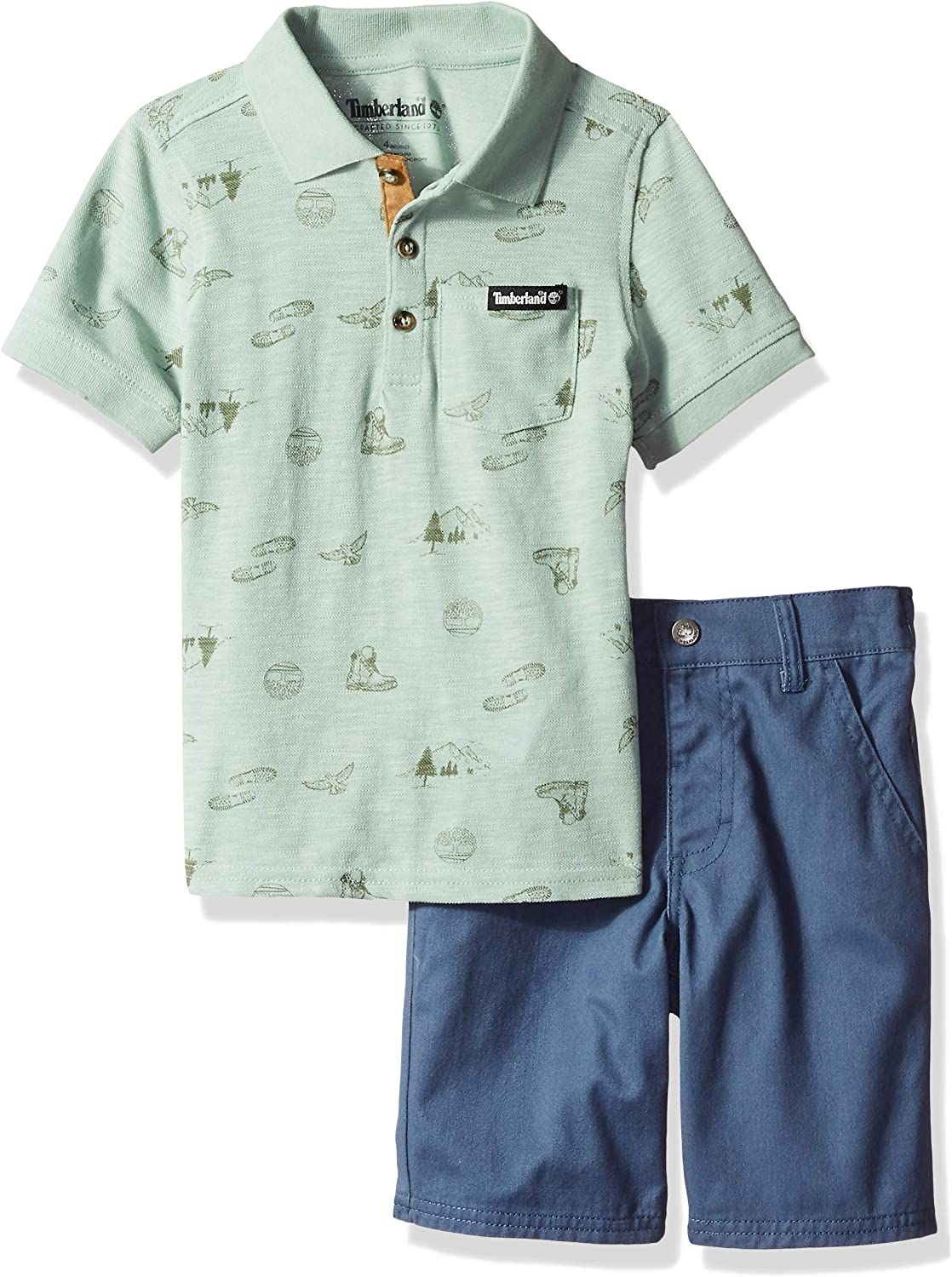 Timberland boys 2 Max 71% OFF Pieces Shorts Fashionable Polo Set
