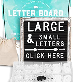 Felt Letter Board 10x10 | +690 PRE-Cut Letters +Stand +Sorting Tray | Black Rustic Farmhouse Letterboard with Cursive Words, Letter Boards, Word Board, Message Board, Changeable Sign