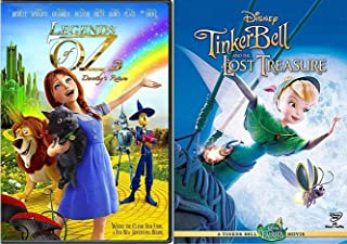 New Adventures Tinker Bell Disney Movie Tinkerbell and the Lost Treasure + Legends of Oz Dorothy's Return Animated Set DVD