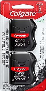 نخ دندان مکس شده با زغال چوب Colgate ، غیر سمی و غیر تفلونی ، نعنا - 2 بسته
