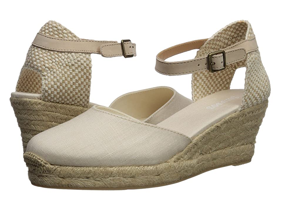 Soludos Closed-Toe Midwedge 70mm (Blush) Women