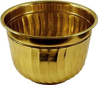 Aatm Brass Planter 12 Inch Home, Restaurant Office Decoration Diwali Gift