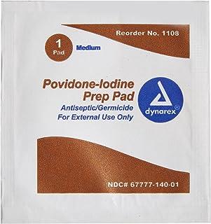 Dynarex Povidone-Iodine Prep Pad, Medium - 100pcs/box
