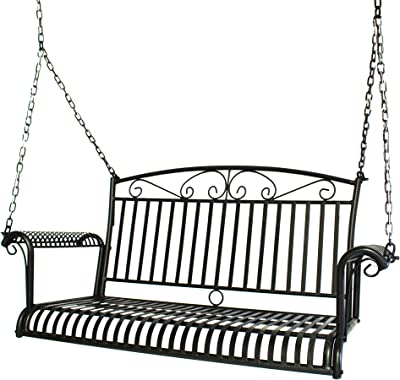 Courtyard Casual 5159 French Quarter Collection Swing, Black