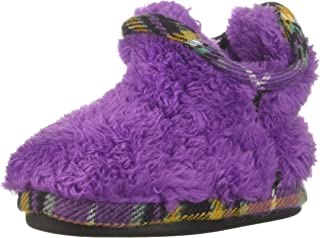 Dearfoams Kids Pile Bootie with Mixed Material Trim Slipper