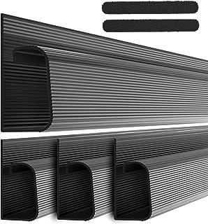 ProOffice J Channel Cable Raceway Kit - Computer Desk Cable Management System - 4x16'' Black Under Table Cable Management ...