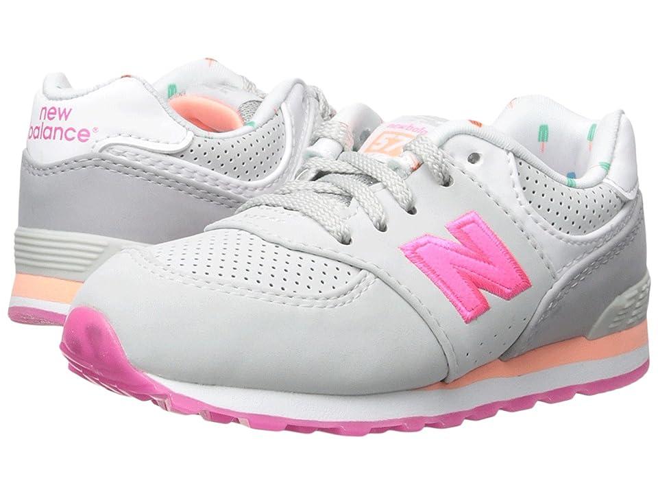 New Balance Kids State Fair 574 (Infant/Toddler) (Grey/Pink) Girls Shoes