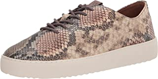 Frye Women's Webster Low Lace Sneaker, Taupe Snake, 7.5